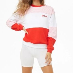 F21 X Wilson Colorblock Sweatshirt
